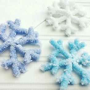 Salt Crystal Snowflakes