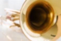Trumpet bell close-up
