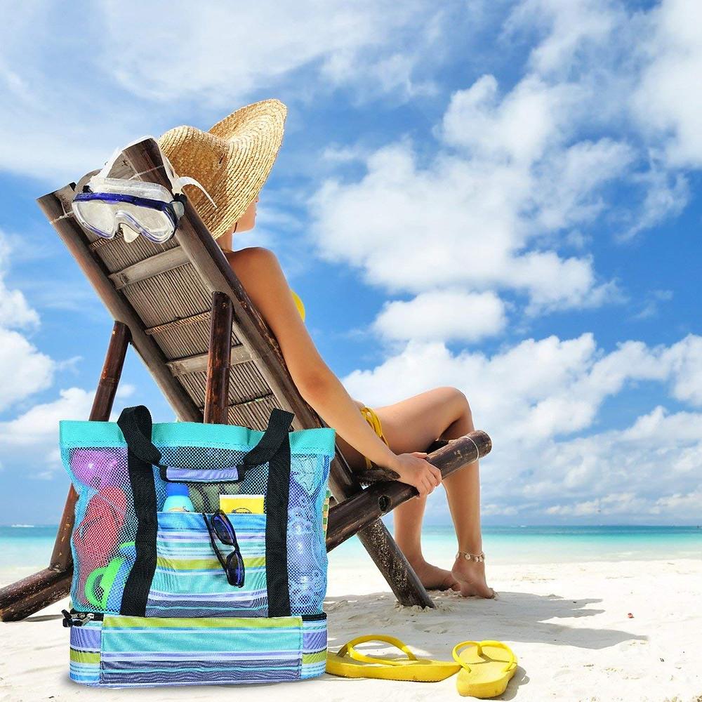 Mesh Beach Bag - Easy Access