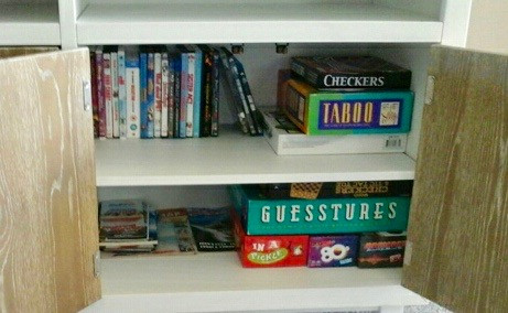 Games, Movies, and Books are supplied in our Land's End condo