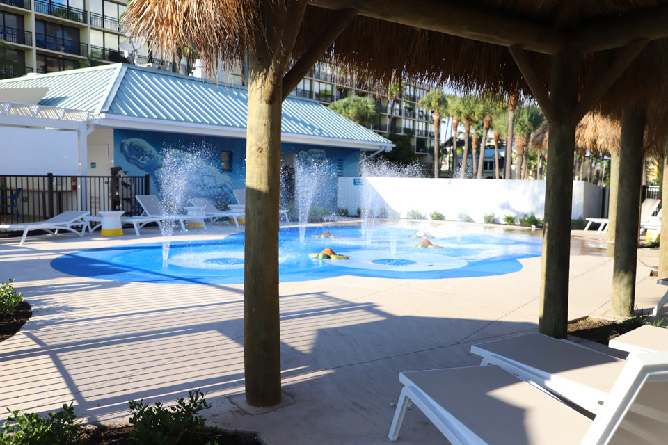 Your kids can unwind at the Sirata Beach Resort splash pad in St. Pete Beach