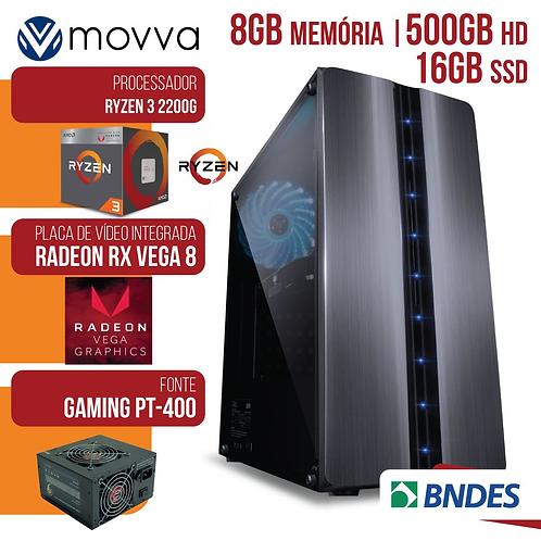 COMPUTADOR GAMER AMD RYZEN 3 2200G 3.5GHZ MEM.8GB HD 500GB SSD 16GB FONTE 400W