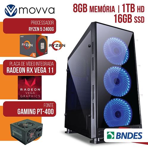 COMPUTADOR GAMER AMD RYZEN 5 2400G 3.6GHZMEM. 8GB HD 1TB SSD 16GB FONTE 400W