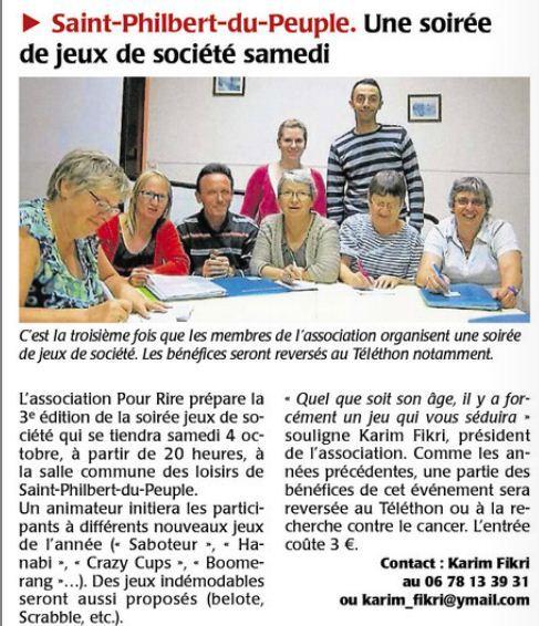 Soirée Jeux de Société le 04/10/14