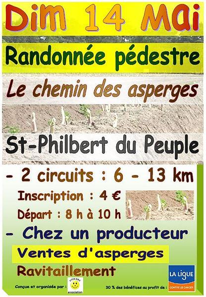 Randonnée Asperges Saint Philbert du Peuple