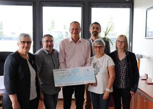 1000 euros remis à La Ligue contre le Cancer!