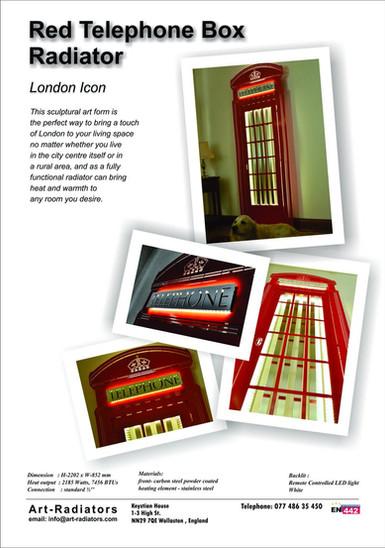 Red Telephone Box Radiator