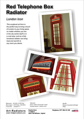 Red Telephone Box Radiator
