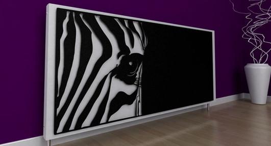 Zebra Designer Radiator Cover