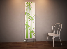 Bamboo green Designer Panel Radiator