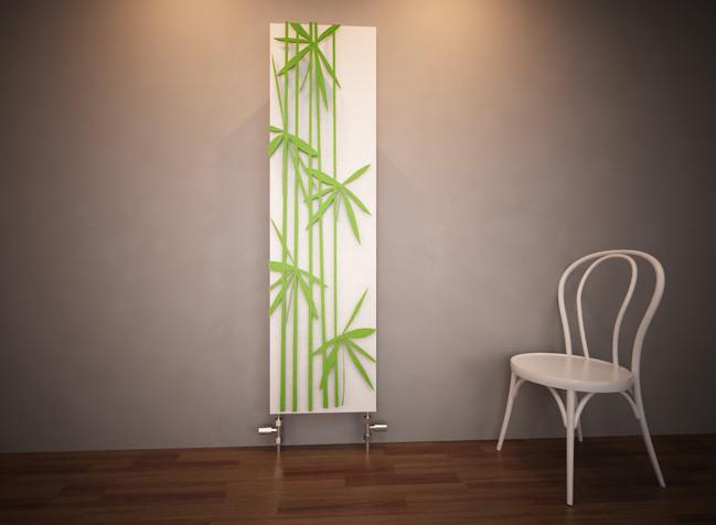 Bamboo green Designer Panel Radiator