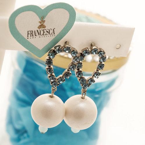 Fe7129 Καλοκαιρινά κρεμαστά σκουλαρίκια με γαλάζια κρύσταλλα