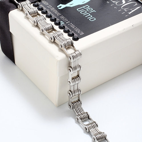 Fb7363 Ατσάλινη ανδρική χειροπέδα σε υπέροχη συσκευασία