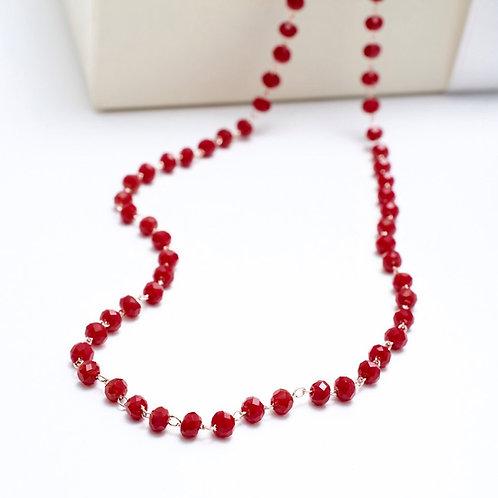 Fn7251 Λεπτο κόκκινο rozario
