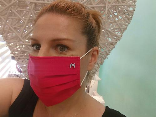 Fm8109 Βαμβακερή μάσκα πολλαπλών χρήσεων με το αρχικό σας του ονόματος σας!