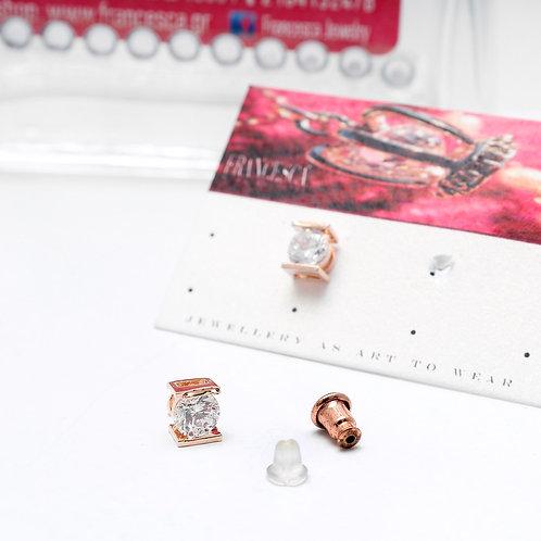 Fe7204 Επίχρυσα λεπτά & διακριτικά σκουλαρίκια με κρύσταλλα