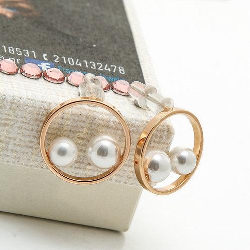 Fe8247 Πρωτότυπα σκουλαρίκια με πέρλες! (διάμετρος κύκλου 1,8 εκατ)