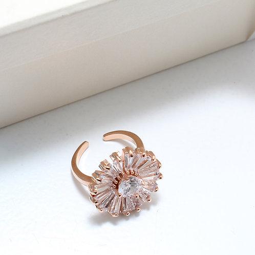 Fr7325 Επίχρυσο δαχτυλίδι με λαμπερά κρύσταλλα