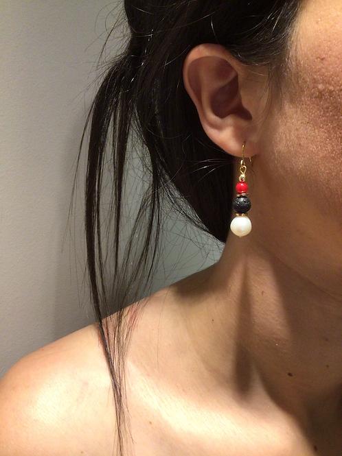 Fe7561 Χειροποίητα κρεμαστά καλοκαιρινά σκουλαρίκια.