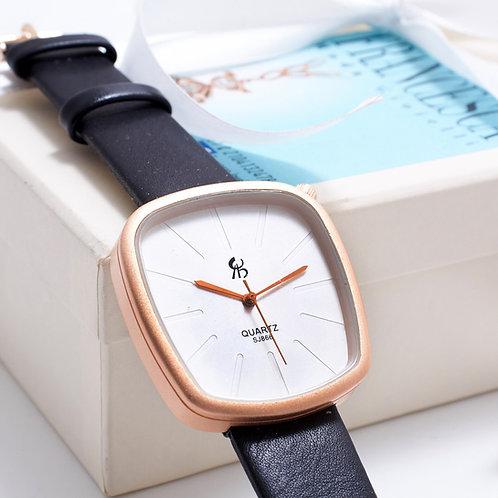 Fw7181 Minimal watch! Υπέροχο σχέδιο ρολογιού με μαύρο λουράκι