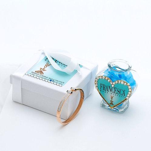 Fb7835 Exclusive bracelet! Χειροπέδα με λεπτά κρυσταλλάκια!