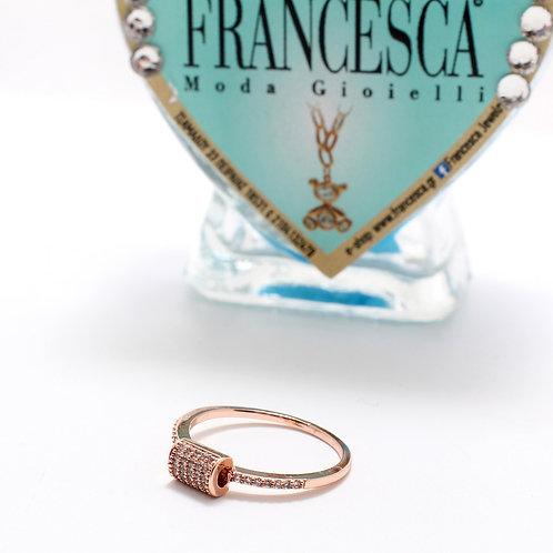 FR7527 Αριστοκρατικό επίχρυσο δαχτυλίδι σε νούμερα 17,18,19