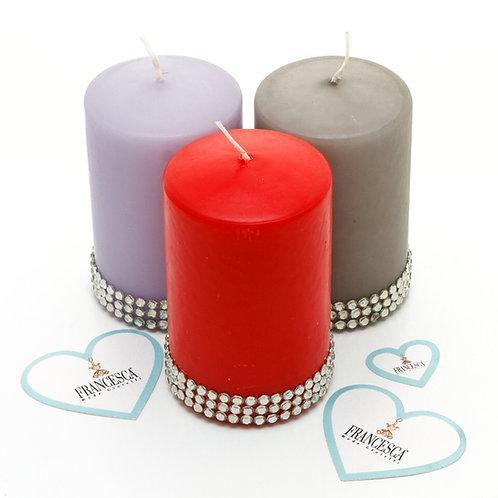 Fc8075 Υπέροχο διακοσμητικό κερί σε 3 χρωματισμούς