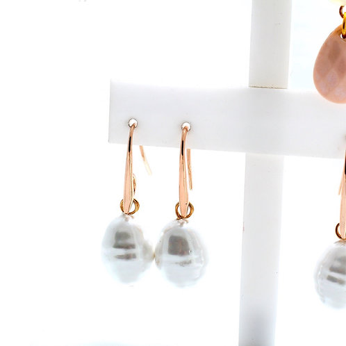Fe7174 Αριστοκρατικα σκουλαρίκια πέρλα