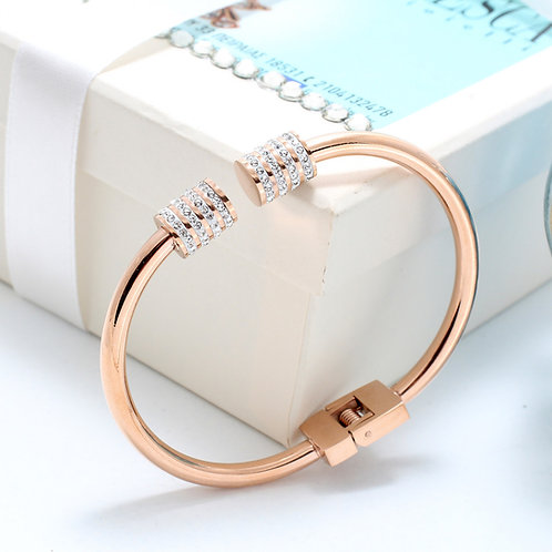 Fb7309 Jewelry as art to wear!! Χειροπέδα κόσμημα σε rose gold απόχρωση!!