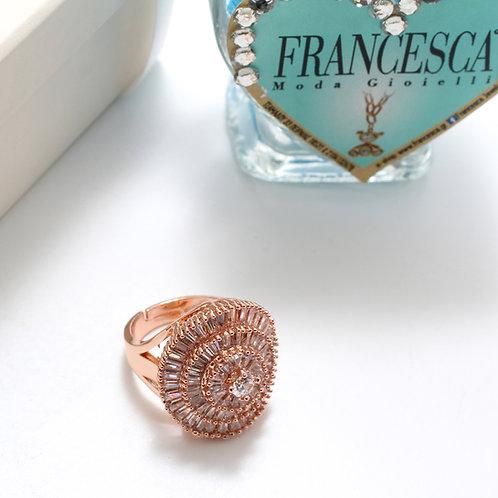 Fr7207 Αριστοκρατικό δαχτυλίδι με υπέροχες πέτρες για όλα τα δάχτυλα