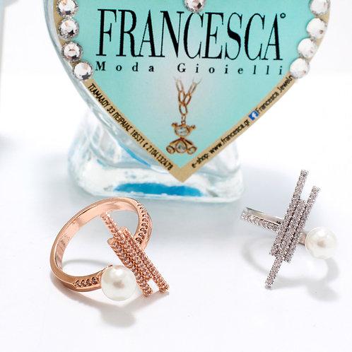 FR7508 Πρωτότυπα δαχτυλίδια πέρλα σε επάργυρο & επίχρυσο για όλα τα δάχτυλα!