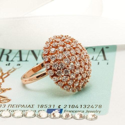 FR7790 Αριστοκρατικό δαχτυλίδι, με λεπτά κρυσταλλάκια!