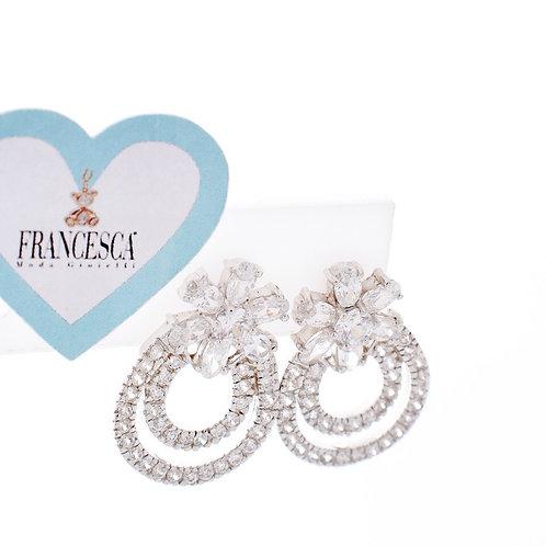 Fe7657 Exclusive earings με κρύσταλλα,από Ασήμι 925*