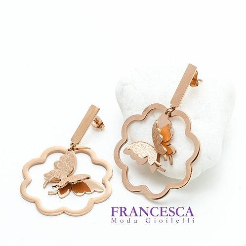 Fe8377 Μοναδικές πεταλούδες σε υπέροχα σχεδιασμένα σκουλαρίκια.