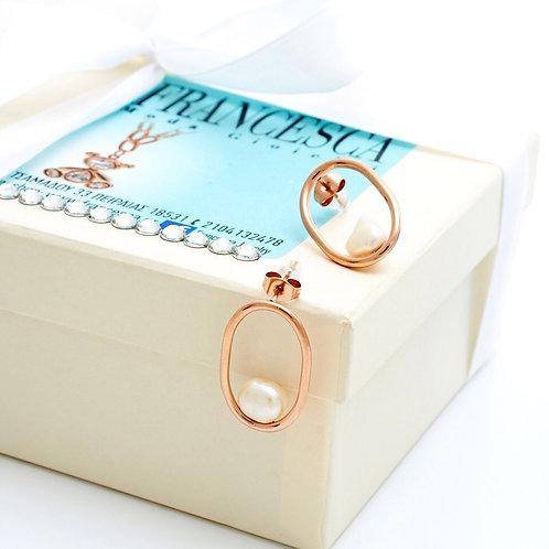 Fe7804 Exclusive! Μοναδικά σκουλαρίκια με μαργαριτάρι!
