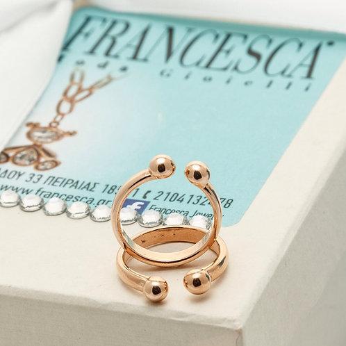 FR7993 Λεπτό δαχτυλίδι σε rose gold απόχρωση.Φοριέται και Chevalier!