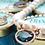 Thumbnail: Fn7146 Κολιέ μαργαριτάρια με κρύσταλλα χρωματιστά και strass