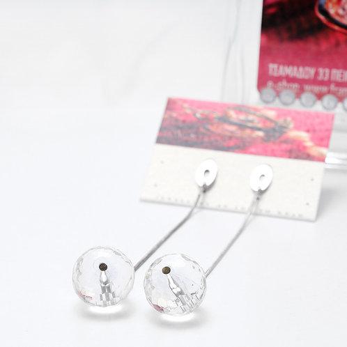 Fe7182 Aσημένιο 925 σκουλαρίκι κρεμαστό