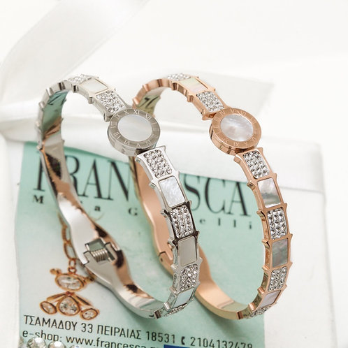 Fb7396 Exclusive bracelet! Χειροπέδα κόσμημα,σε επάργυρη,και ροζ χρυσό.