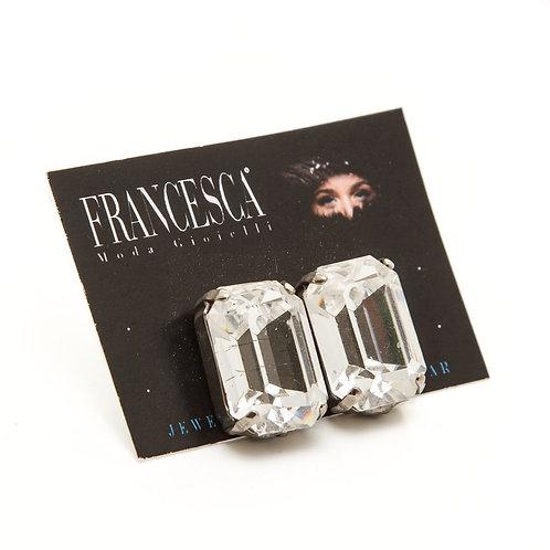Fe7922 Σκουλαρίκια με κρύσταλλα