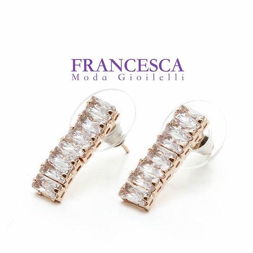 Fe8593 Exclusive crystal! Αριστοκρατικά σκουλαρίκια με κρυσταλλάκια!