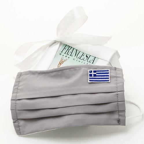 Fm7642 Γκρί μάσκα πολλαπλών χρήσεων με την Ελληνική σημαία!!