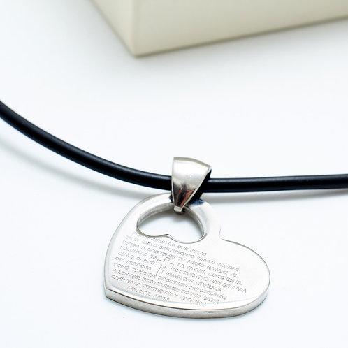 FN7364 Καουτσούκ κολιέ με μωτίφ καρδιά