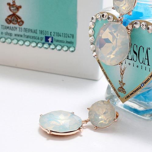 Fe7344 Υπέροχα κρυστάλλινα τρυπητά σκουλαρίκια σε 4 αποχρώσεις