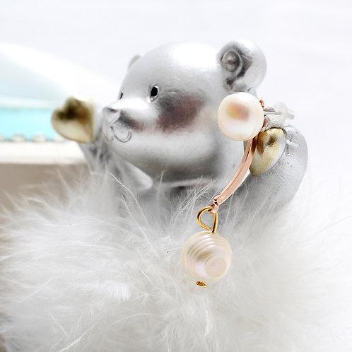 Fe7233 Διακριτικά κρεμαστά σκουλαρίκια με μαργαριτάρια