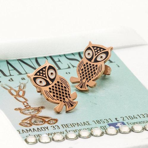 Fe8172 Λεπτά σκουλαρίκια με σχέδιο κουκουβάγιας