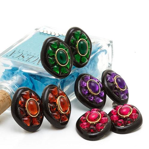Fe7603 Εντυπωσιακά σκουλαρίκια με κλιπ,σε 4 αποχρώσεις