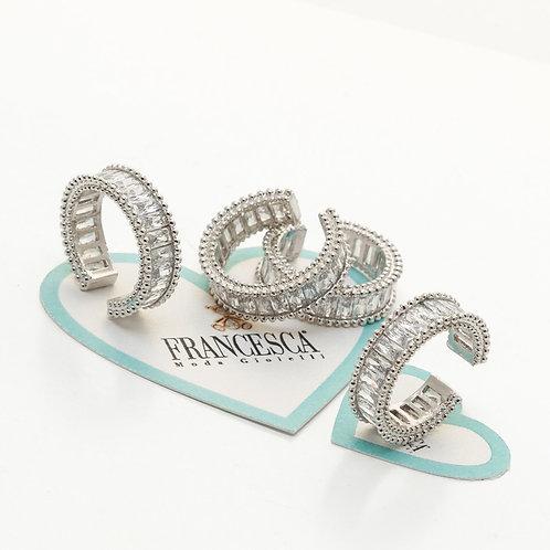 Fr7886 Επάργυρο δαχτυλίδι,με υπέροχες πέτρες