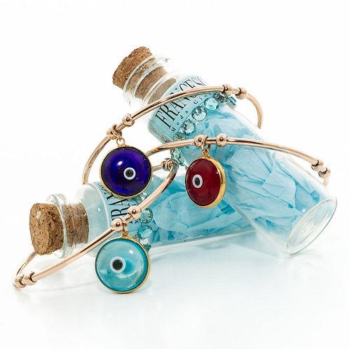 Fb7645 Βραχιόλι με ματάκι! Διαθέσιμο μόνο γαλάζιο!!