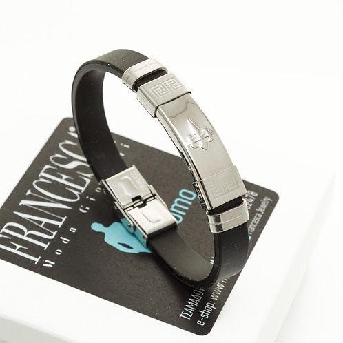 Fb8300 Ανδρική χειροπέδα με καουτσούκ και ατσάλι.